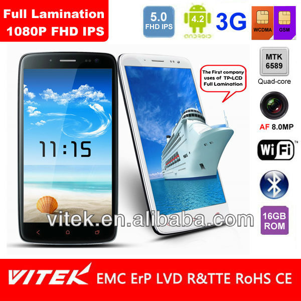 "New FHD Full Lamination Android 4.2 Quad Core 5"" smartphone"