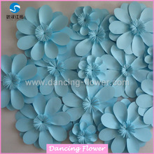 Wholesale Many Style Paper Flower Wall Wedding Stage Backdrop Decoration