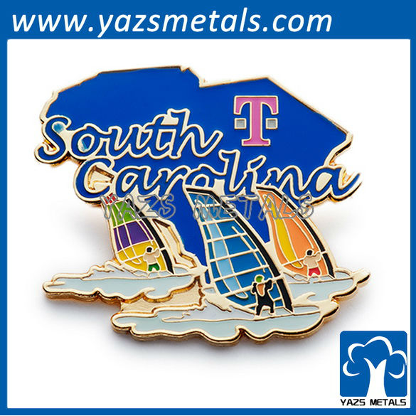 customize embossed pins, custom high quality tmobile south pins
