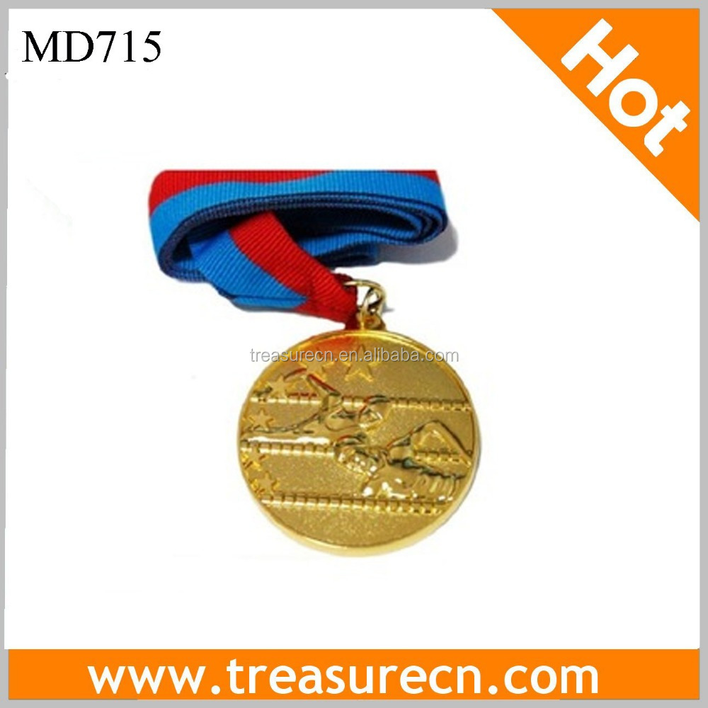 45mm Iron Sports Medal/Medallion With Swimming Customized Logo