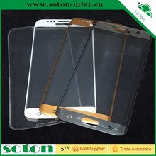 2016 HOT 9H Full cover Plating Silk Tempered Glass Screen Film for Samsung Galaxy S7 G9300