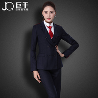 Juqian new coming wholesale formal business office work wear uniform high end womens 3 piece pant suit
