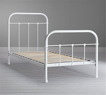 wholesale ISO9001:2008 home furniture low price metal super single bed designs
