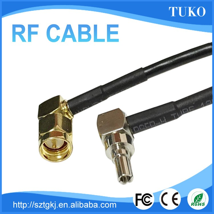 Shenzhen manufacurer wholesale top selling and high quality SMA male to CRC9 connector rf cable