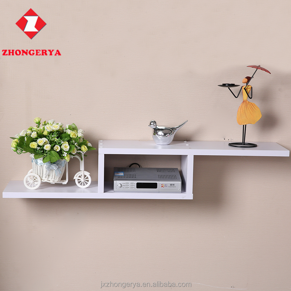 Fast shipment home use E1 material wall wood shelves for storage