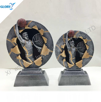 Wholesale Resin Trophy Basketball Dunk Souvenir