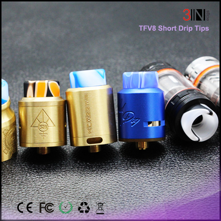 2017 Newest TFV8 driptips Fashionable 510 driptips Beautiful wotofo driptip