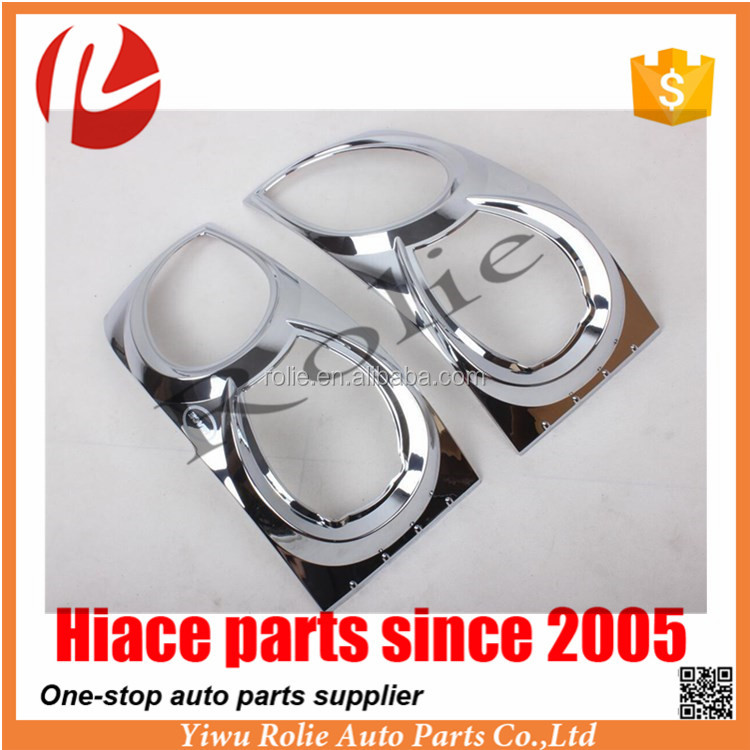 Auto Accessories Parts Chrome Headlight Head Light Cover For Toyota Hiace 2005