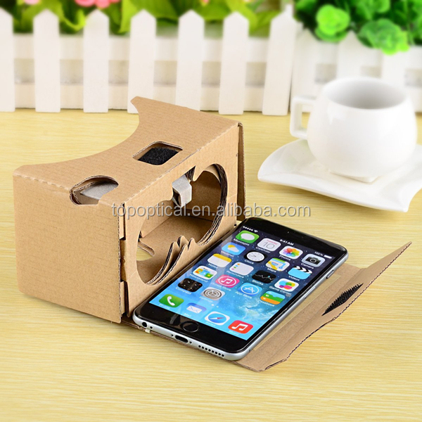 V2.0 Google cardboard 3D glasses VR virtual reality cardboard kit 2016 with headband fit for all kinds screen