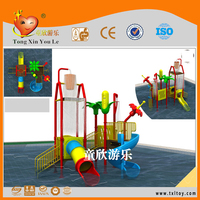 Attractive kids water playground plastic slide in the pool
