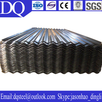 Hot dip galvanized and galvalume 0.14-1mm thickness ISO roof tiles sheet metal price