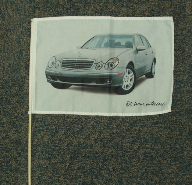 polyester 53cm pole car flag ,window flag
