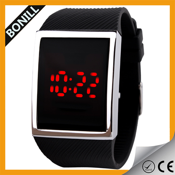 2015 new arrival wristband LED digital watch, Touch screen hand watch,digital wathes for teens