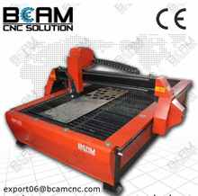 Most popular BCP1325 cnc plasma metal cutter / cutting machine with start control system, saw table