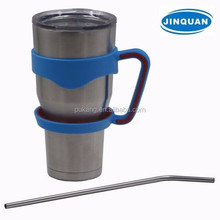 30oz stainless steel double insulated tumbler with handle,car travel mug with holder