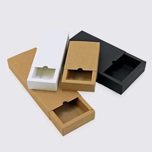 Customized good quality kraft <strong>paper</strong> designer luxury sliding craft small gift kraft packaging box with drawer