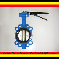 hand lever operated semi lug end butterfly valve