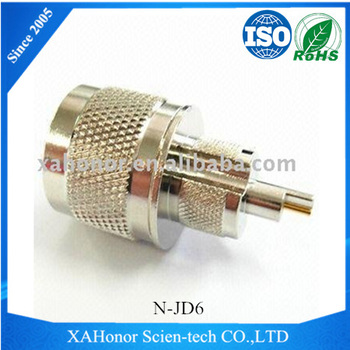 pure brass nickel plated N Type male RF connector DC-11GHz