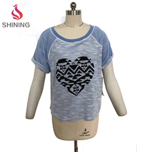 Hot products 2017 new bat sleeve summer tops polyester rayon single jersey knitting fabric