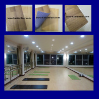 100% pvc indoor basketball sports flooring wood like used for yoga dance room 4.5mm-6.0mm