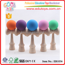 2017 Top Selling Game Matt Color Kendama Wholesale Wooden Kendama Toy