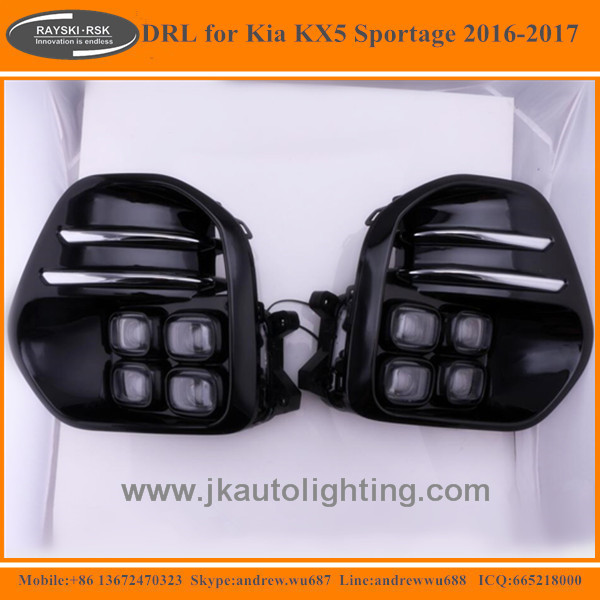 Super Quality Hot Selling LED DRL for Kia KX5 Super Bright LED Daytime Running Light for Kia KX5 2016 2017