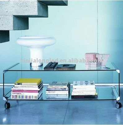 elegant oblong acrylic end table high hardness high transparency