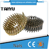 Q235 steel Standard Coil Roofing Nail Type umbrella head roofing nails