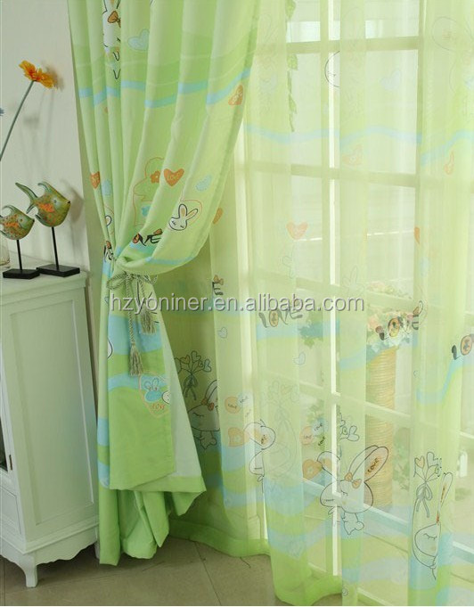 cute cat pattern blackout curtain fabric 100% polyester made blackout fabric