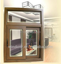 Australia standard aluminum sliding low-e glass window