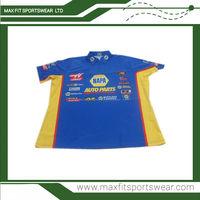custom sublimation team racing crew shirt motorcycle race team shirt