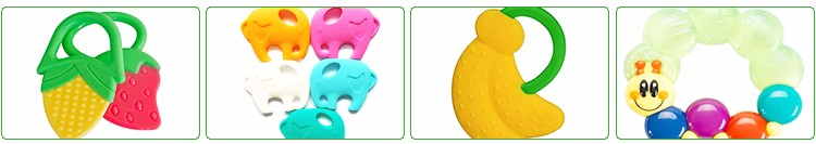 100% Food Grade Silicone Baby Teethers