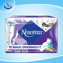 extra thin cotton surface sanitary napkins/ branded Nosotras for spain market