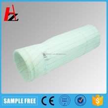 Nonwoven polyester large dust holding capacity filter bag
