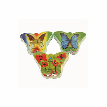 Butterfly Pattern 100% Cotton Compressed Towel