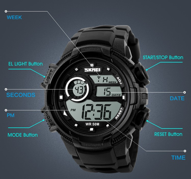 Chinese Wholesale Fashion Brand Sport Watches Men