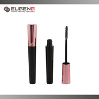 shiny black tapered plastic mascara tube