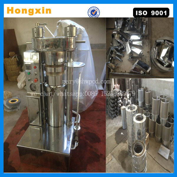 automatic small hydraulic cold press olive/avocado/shea nut oil extraction machine