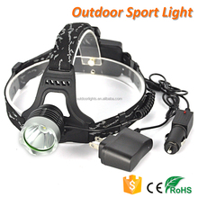 3 Modes 1800lm CREE XM-L T6 LED Headlight Rechargeable Headlamp