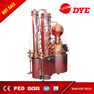 250L Copper Moonshine Still industrial alcohol distillation equipment with4 copper plate column for whiskey and vodka