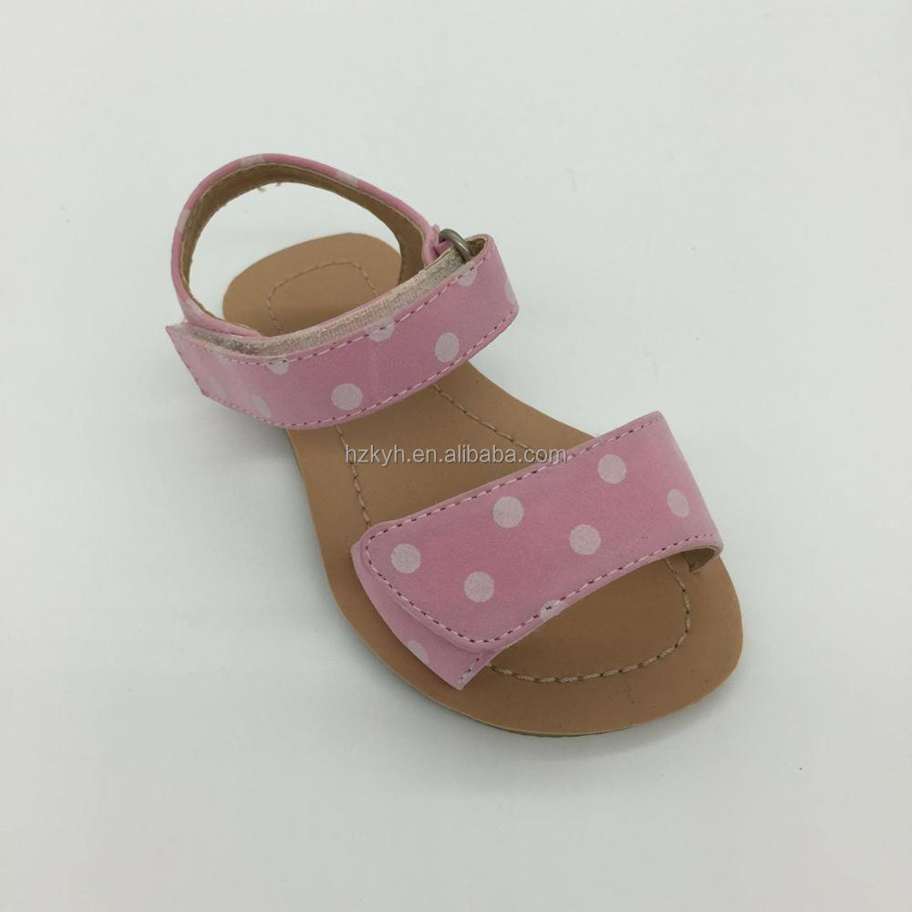 Fashion Pink Velcro kid baby sandals shoes 2017