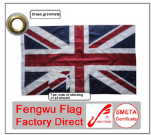 Outdoor 3x5ft 210D nylon sewn the United Kingdom national flag