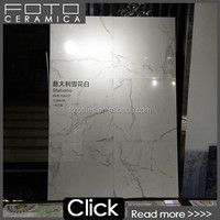 Super Glossy Super White And Black Porcelain Floor tile