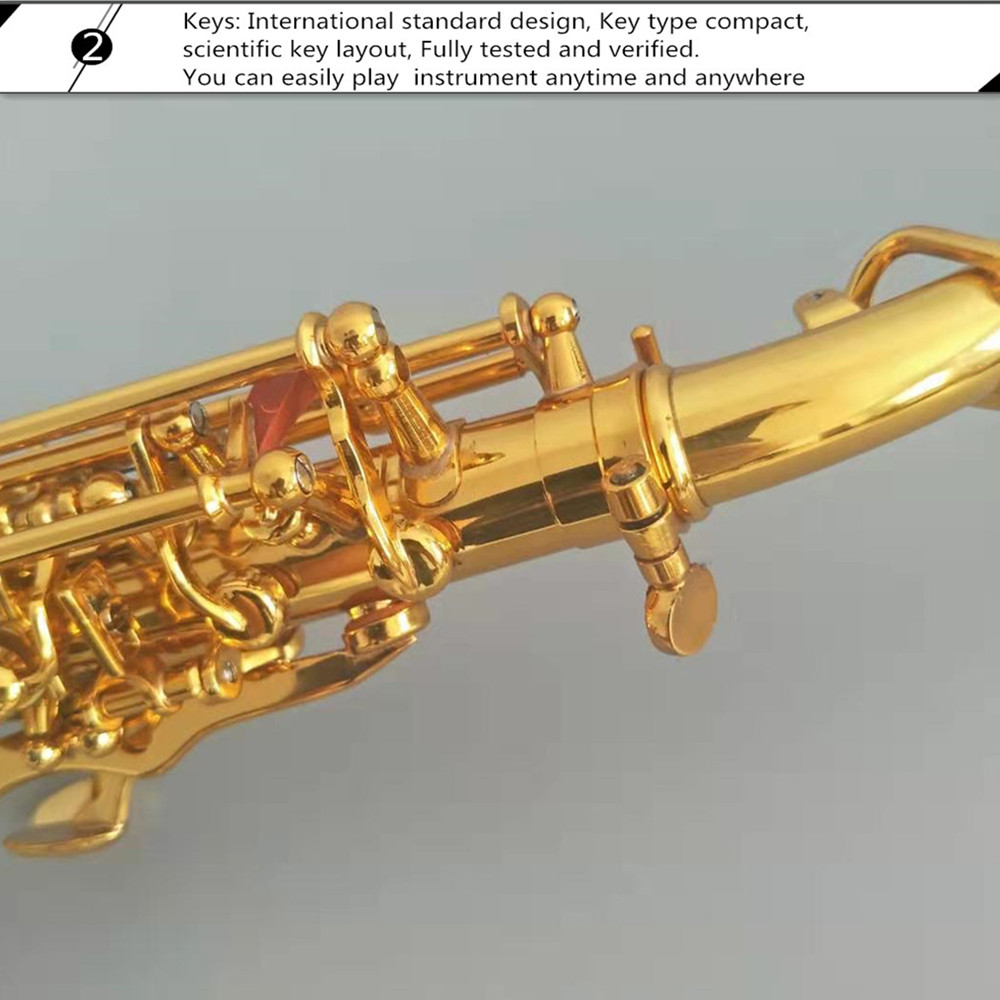 Hot selling Bb brass Curved Soprano Saxophone