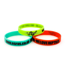 Custom made debossed ink filled silicone wristband