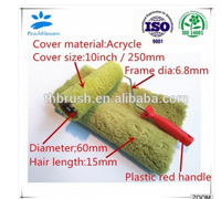 Color Decorative Paint Brush Roller Cover Size With Plastic Handle
