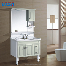 Wholesale bath vanity modern cabinet pvc floor mounted bathroom furniture