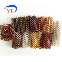 my test 3 latest expanded decorative metal coil mesh drapery