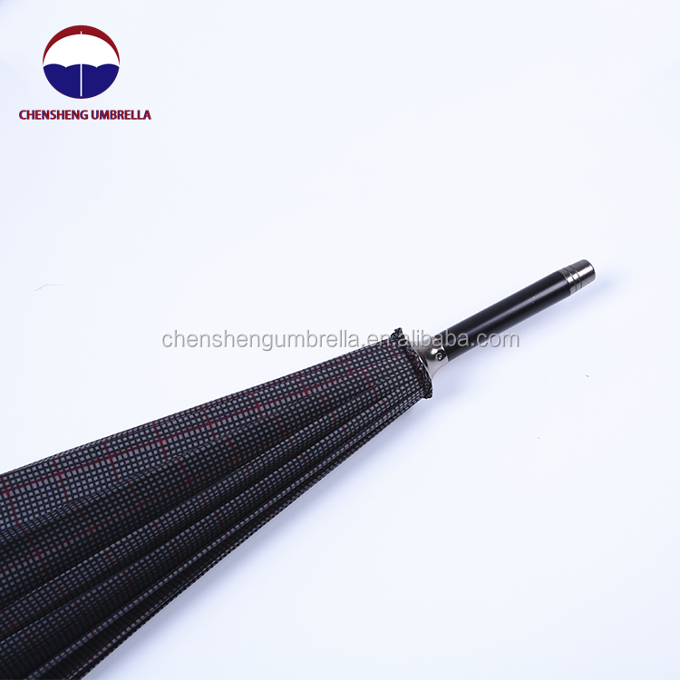 2019 J shape handle strong wind resistant auto open business straight umbrella