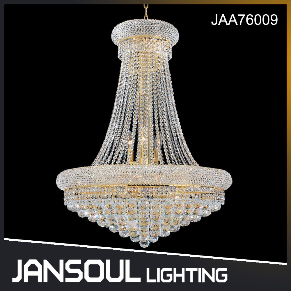 Egyptian style large luxury K9 crystal lighting lamp chandelier for hotel lobby